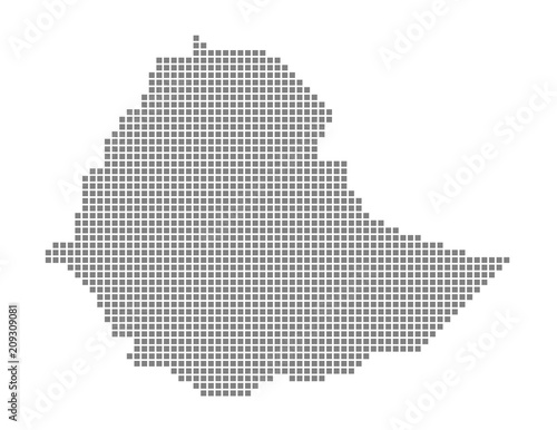 Pixel map of Ethiopia. Vector dotted map of Ethiopia isolated on ...
