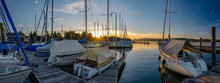 Panoramic View Of Small Port A...