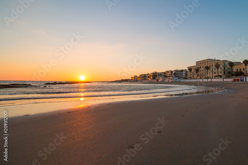 Sunset in Anzio, Italy Canvas Print