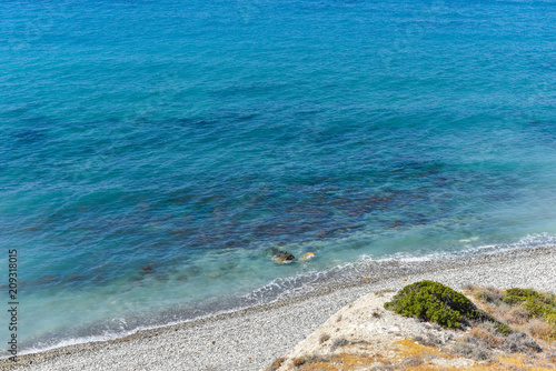 Spoed Foto op Canvas Cyprus Pebble stone beach in Cyprus