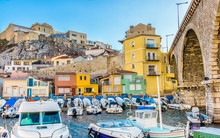 """Marseille, France, March 2018, """"Vallon Des Auffres"""" Bay In The 7th District By The Mediterranean Sea"""