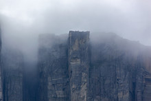 View Of Preikestolen Steep Cli...