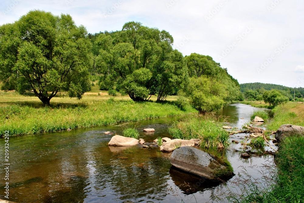 Fototapeta Pejzaż z rzeką