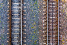 Aerial View On Railway Tracks....