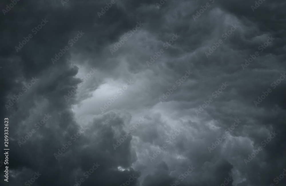 Dramatic sky background with copy space