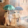Leinwanddruck Bild - Holy place Lalibela in Ethiopia