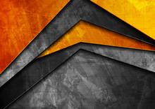 Grunge Tech Material Orange An...