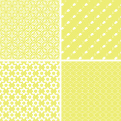 Chic different vector seamless patterns