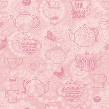 Pink Vintage  Seamless Pattern...