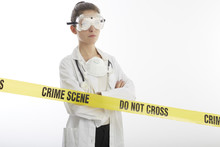 Forensic Doctor On Crime Scene