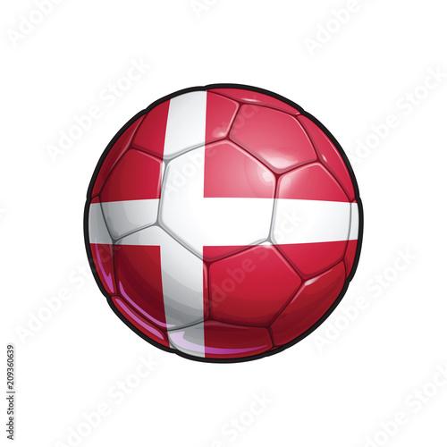 Wallpaper Mural Danish Flag Football - Soccer Ball