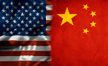 American Flag And China Flag S...