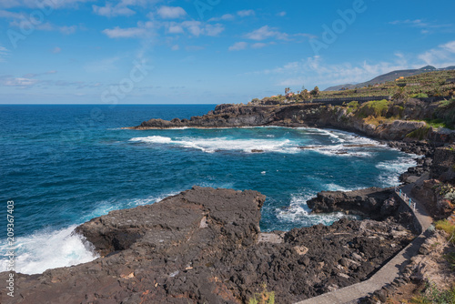 Staande foto Kust Coastline landscape in La Palma island, Canary islands, Spain.