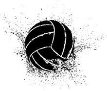 Silhouette Of A Volleyball Sha...