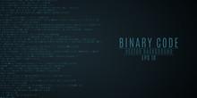 Binary Code Background. Blue Glow. High Technologies, Programming, Sci-fi. Vector Illustration
