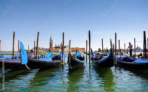 Foto op Plexiglas Venetie .Venice, Italy with gondolas .