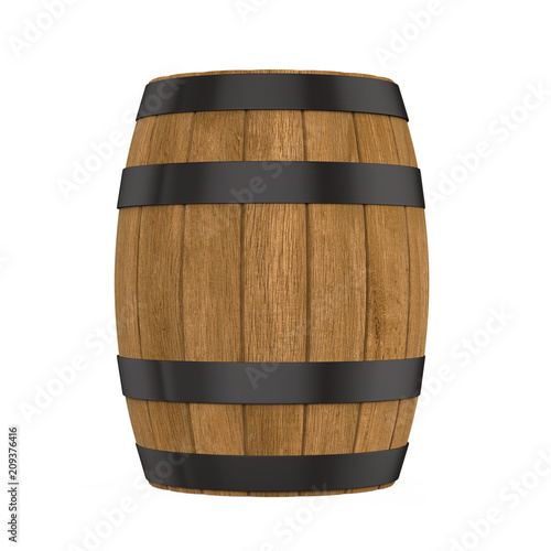 Wooden Barrel Isolated Fototapete