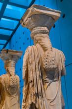 Original Caryatids Ruins Temple Erechtheion Acropolis Museum Athens Greece