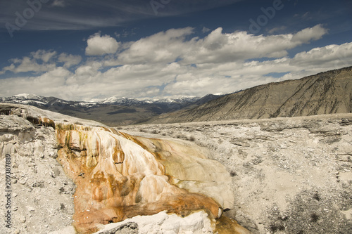 Keuken foto achterwand Beige Mammoth Hot Springs; Yellowstone NP; Wyoming