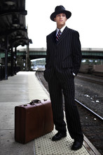 Man Waiting For A Train In 194...