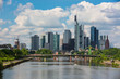 Frankfurt, Germany skyline panorama from Osthafen