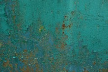 Green Metal Texture From An Old Rusty Wall