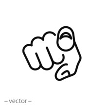 Finger Pointing Icon Vector