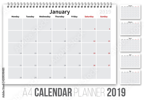 2019 calendar layout buy this stock template and explore similar