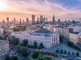 Fototapeta Londyn - Warszawa z lotu ptaka