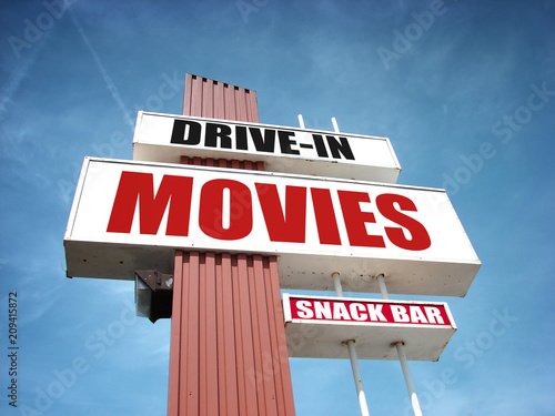 drive in movies sign