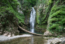 The Agek Waterfall Falls From ...