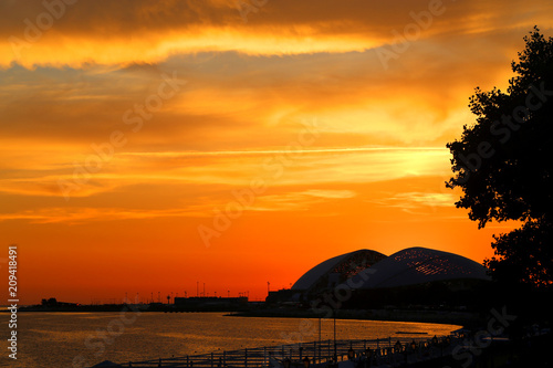 Foto op Plexiglas Oranje eclat Photo of wonderful beautiful sunset
