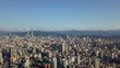 sunny day taipei cityscape high aerial panorama 4k taiwan