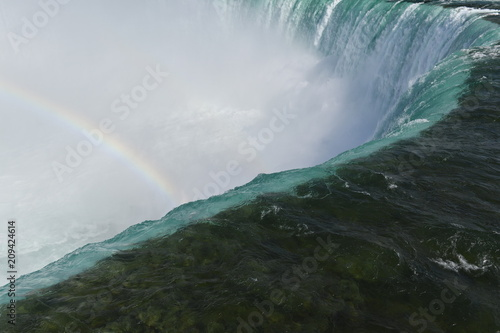 Foto op Aluminium Oranje A rainbow over the Niagara-falls in Canada