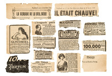 Newspaper Pieces Vintage Adver...