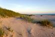 Baltic sea beach in evening light.
