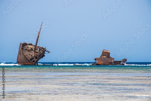 Keuken foto achterwand Schip shipwreck in sinai