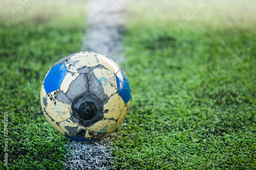The long running soccer ball is durable. Canvas Print