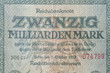 canvas print picture - Deutsche Reichsmark Banknote