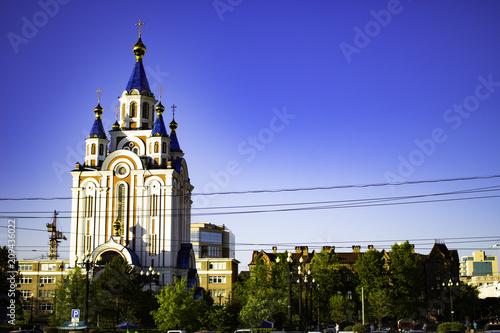 Staande foto Kiev Khabarovsk, Russia - May 18, 2018: The Square Of Glory