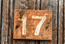 In The Old Door The Number Seventeen
