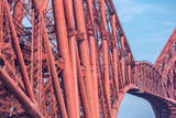 Construction detail Forth Bridge, railway bridge over Firth of Forth near Queensferry in Scotland