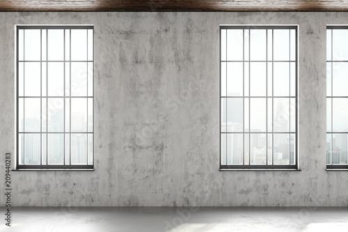 Foto op Plexiglas Wand Contemporary interior with copyspace