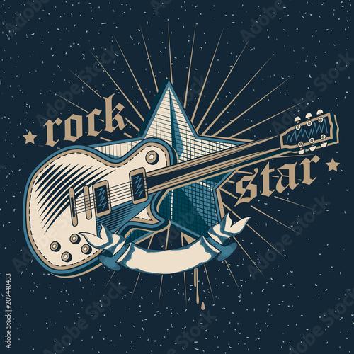 Valokuva  Rock star emblem