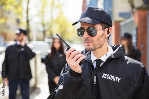 Tableau sur Toile Portrait Of A Male Security Guard