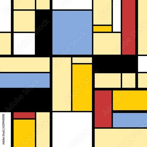 Obrazy styl bauhaus kolorowe-kwadraty