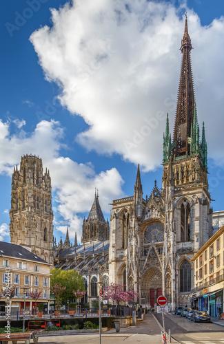 Papiers peints Con. ancienne Rouen Cathedral, France