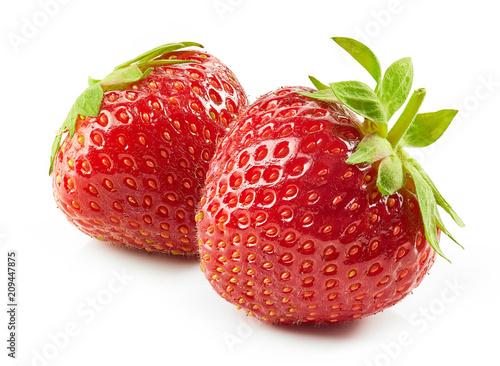 Foto op Aluminium Vruchten fresh red strawberries