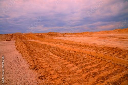 In de dag Lichtroze пустыня