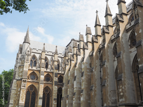 Westminster Abbey church in London Canvas Print